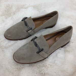 Franco Sarto Gray Harlow Suede Loafers Shoes